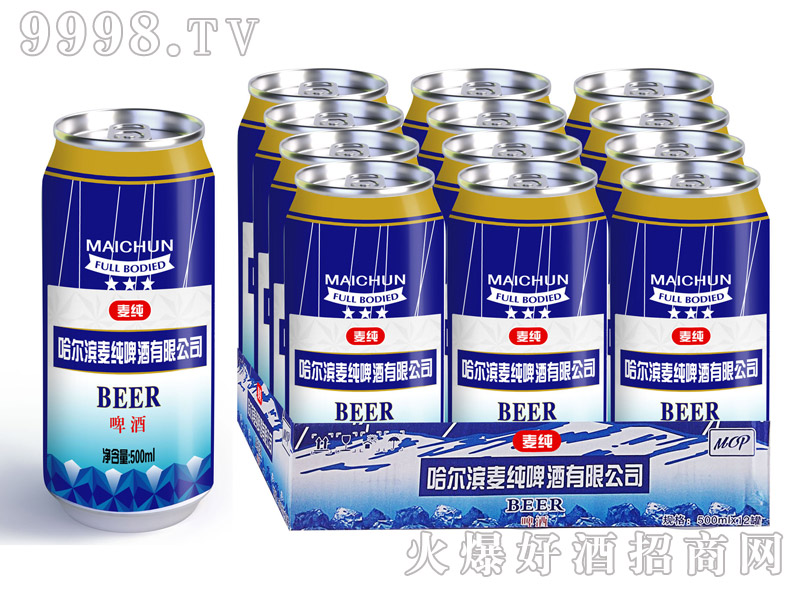麦纯啤酒500ml×12半托